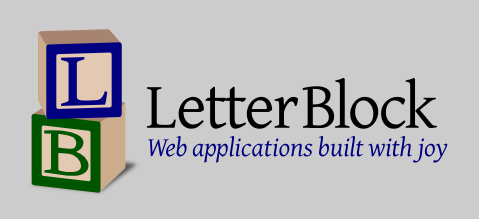 LetterBlock: Web applications built with joy